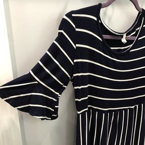 PinkBlush Maternity Navy Striped Dress